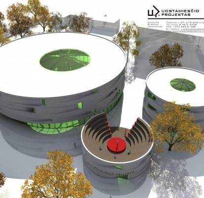 """Vasaros estrados rekonstrukcijos projektą parengė """"Uostamiesčio projektų"""" architektai."""