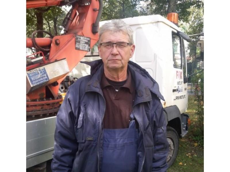 Komunalinio ūkio įmonės darbo veteranas Vygantas Petrauskas