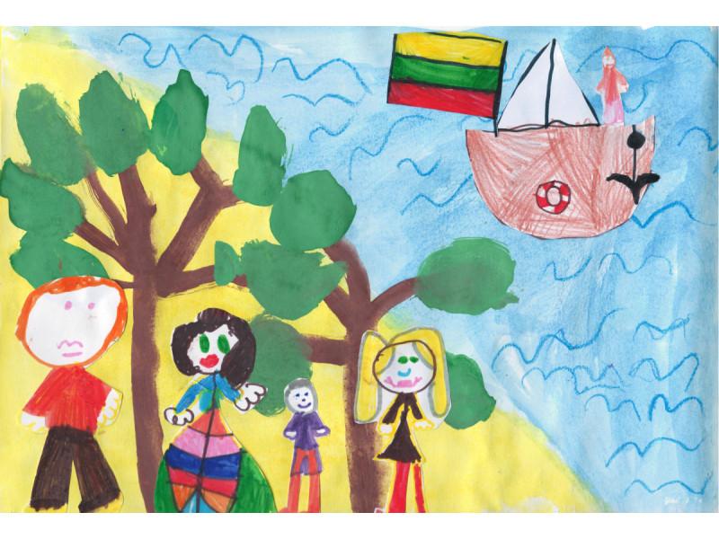 """Palangos lopšelio-darželio """"Gintarėlis"""" vaikų kūrybinė paroda """"100-sis pavasaris Palangoje"""" (PIEŠINIŲ GALERIJA)"""