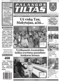 Palangos tilto laikraštis, Data: 2013-10-07, Numeris: 76 (1217)