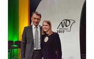 Nacionalinio diktanto finalininkei Austėjai padėjo mamos gydytojos diktantai