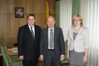 Meras Š. Vaitkus ir administracijos direktorė A. Kilijonienė lankėsi Vilniuje