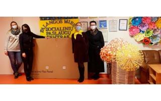 Palangos socialinių paslaugų centras gavo dovanų iš Palangos LIONS moterų klubo