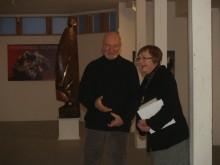 Vilniuje gimusį skulptorių S.Viežbickį pristatė A,Mončio namų – muziejaus direktorė L.Turauskaitė.