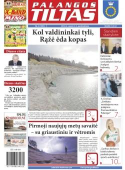 Palangos tilto laikraštis, Data: 2012-01-05, Numeris: 2 (1045)