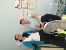 11 mėnesiu po avarijos Palangos reabilitacinėje ligoninėje su Aušra