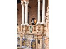Ispanijos provincijas vaizduojanti plytelių mozaikos dalis.