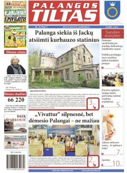 Palangos tilto laikraštis, Data: 2012-03-08, Numeris: 19 (1062)