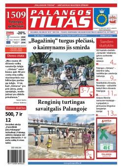 Palangos tilto laikraštis, Data: 2019-07-29, Numeris: 29 (1704)