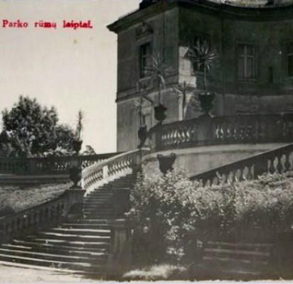 """Palangos dvaro rūmai, 1912 metai. Iš """"Lietuva senose fotografijose""""."""