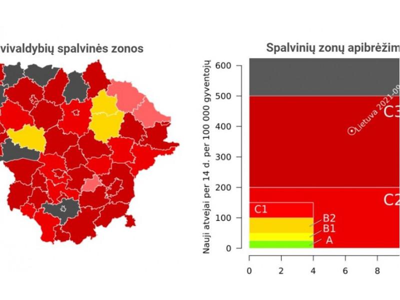 """Lietuva """"juoduoja"""" – šalyje jau 15 juodųjų savivaldybių, beliko 3 geltonosios"""