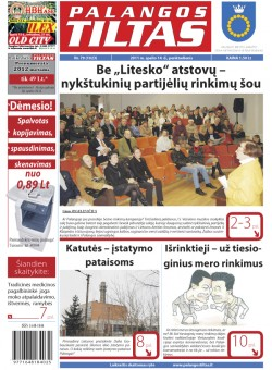 Palangos tilto laikraštis, Data: 2011-10-13, Numeris: 79 (1023)