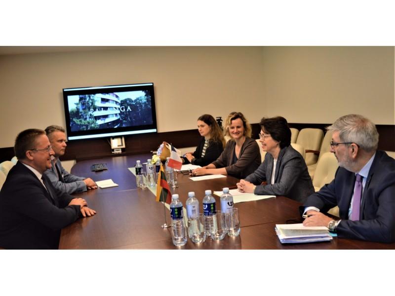 Savivaldybėje lankėsi Prancūzijos ambasadorė Lietuvoje Claire Lignieres-Counathe ir Prancūzų instituto Lietuvoje Jean-Marie Sani