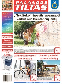Palangos tilto laikraštis, Data: 2011-09-20, Numeris: 72 (1016)