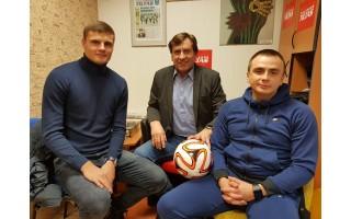 Futbolo čempionai iš Palangos – Karolis Laukžemis ir Mantas Perepliotovas