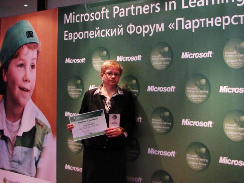 Mokytoja iš Palangos Maskvoje sulaukė įvertinimo