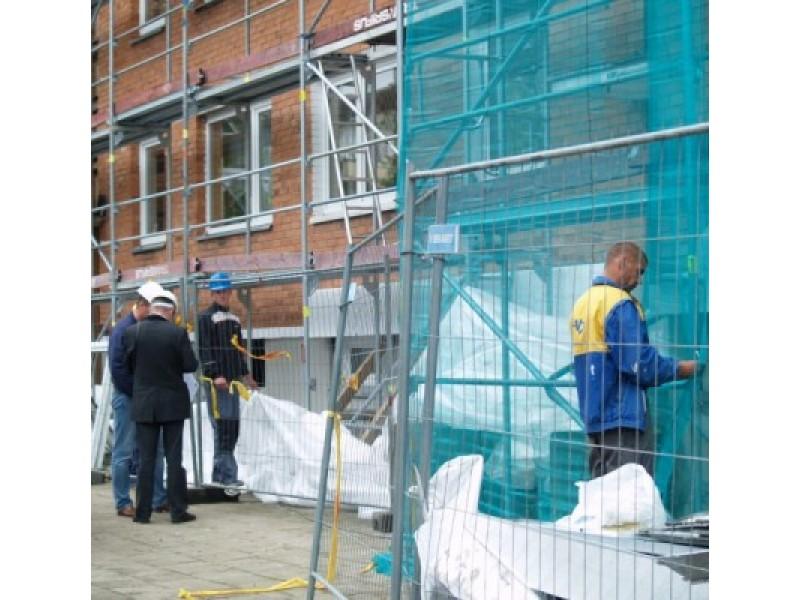 Prasidėjo pirmojo Palangoje dvidešimties butų gyvenamojo namo renovacija.