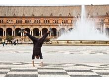 Sevilijos fontanai ir mano džiaugsmo saulutės.
