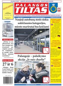 Palangos tilto laikraštis, Data: 2015-01-19, Numeris: 5(1341)