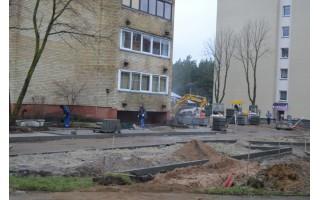 Džiugina Druskininkų gatvėje verdantys darbai