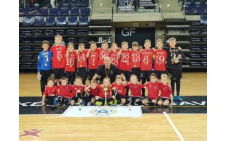 """Palangos FK """"Gintaras"""" vienuolikmečiai berniukai triumfavo turnyre Kėdainiuose"""