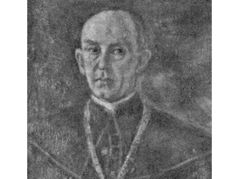 Palangos klebono prelato Juozapo Šniukštos portreto, saugomo Palangos bažnyčioje, fragmentas. D. Mukienės nuotr.