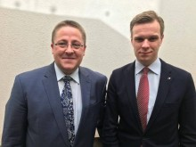 Meras Š. Vaitkus su TS-LKD pirmininku G. Landsbergiu