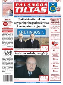 Palangos tilto laikraštis, Data: 2015-12-07, Numeris: 93(1429)