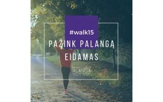 Palangą galima pažinti einant su #walk15 programėle