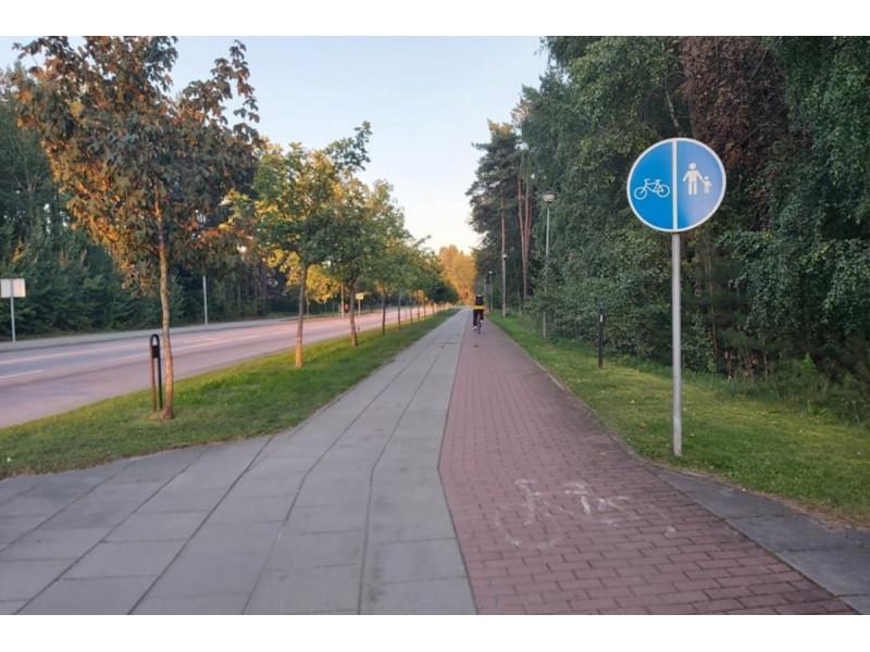 Palangoje esanti Bangų g. stebina ne vieną pėsčiąjį ar dviratininką. lrytas.lt skaitytojos nuotr.