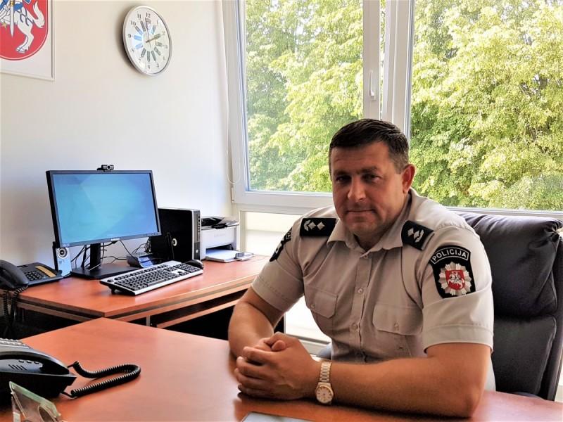 Algirdas Budginas yra Palangos policijos komisariato viršininkas