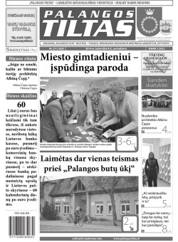 Palangos tilto laikraštis, Data: 2014-04-07, Numeris: 27 (1265)