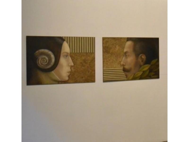 Pirmieji paveikslai Kurhauzo meno kolekcijoje – M. Kosinskaitės sukurti grafų Antaninos ir Felikso Tiškevičių portretai.  / Kažio nuotr.