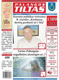 Palangos tilto laikraštis, Data: 2013-07-29, Numeris: 57 (1198)