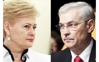 Palanga Dalią Grybauskaitę prezidente perrinko pirmajame ture