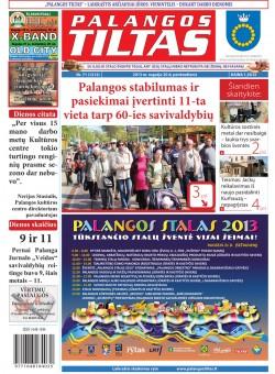 Palangos tilto laikraštis, Data: 2013-09-19, Numeris: 71 (1212)
