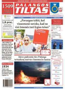 Palangos tilto laikraštis, Data: 2018-08-23, Numeris: 34(1659)
