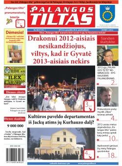 Palangos tilto laikraštis, Data: 2012-12-27, Numeris: 98 (1141)