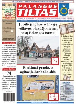 Palangos tilto laikraštis, Data: 2015-03-12, Numeris: 19(1355)