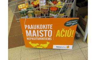 """Palangiškių maisto aukos  """"Maisto bankui"""" kurorto """"Maxima"""" ir """"Lidl"""" parduotuvėse atiteks kretingiškiams"""