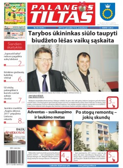 Palangos tilto laikraštis, Data: 2011-12-12, Numeris: 95 (1039)