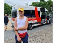 Lino Jegelevičiaus nuotraukoje: Tomas skiepytis į Palangą atvyko iš Klaipėdos