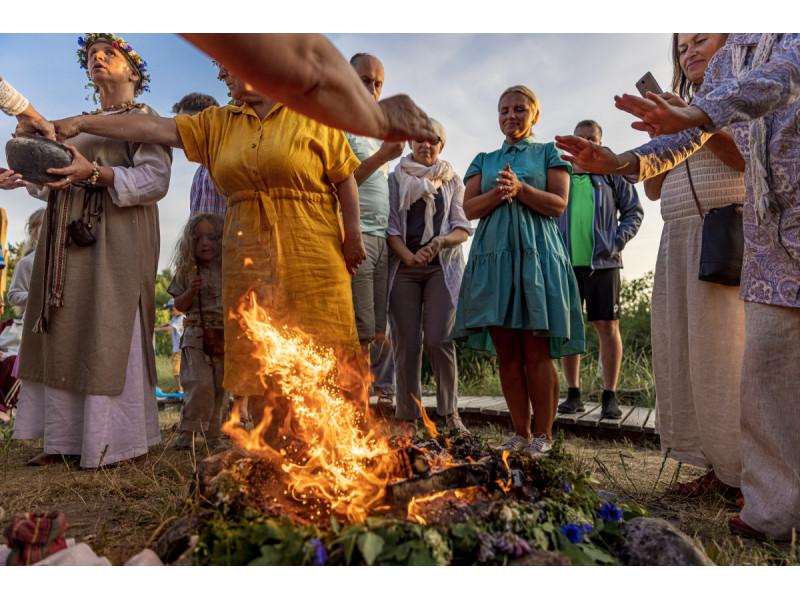 Joninių miestelis Šventojoje užbūrė šventės dalyvius