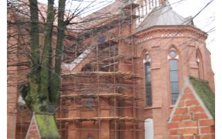 Vyksta bažnyčios restauravimo darbai