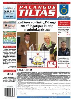 Palangos tilto laikraštis, Data: 2012-11-06, Numeris: 84 (1127)