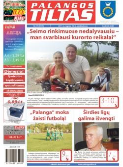 Palangos tilto laikraštis, Data: 2011-09-29, Numeris: 75 (1019)