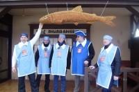 Žvejiškai šventei besirengiančią Palangą papuošė gintarinė stinta