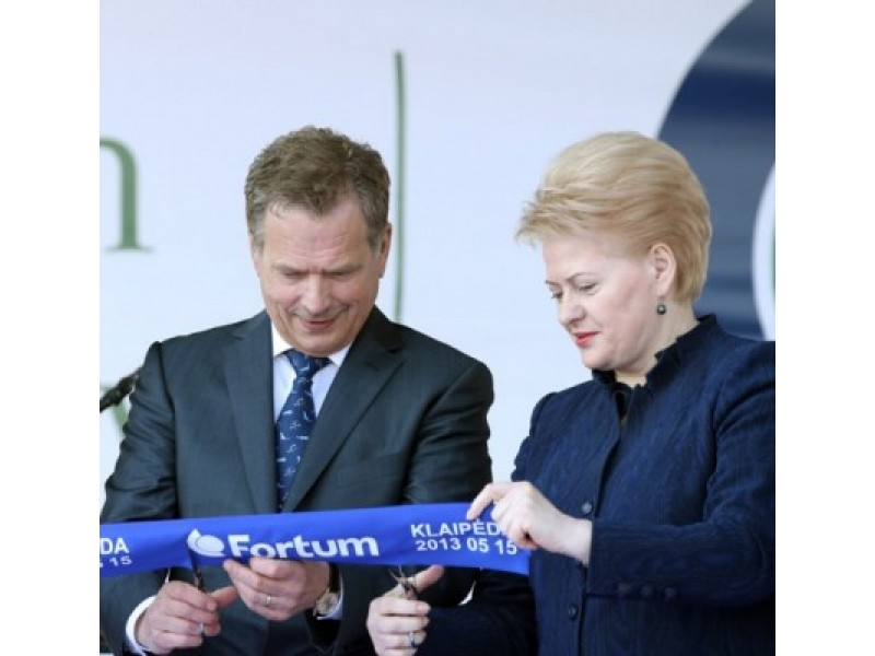 Termofikacinę elektrinę atidarė Suomijos prezidentas S. Niinisto ir Lietuvos prezidentė Dalia Grybauskaitė.