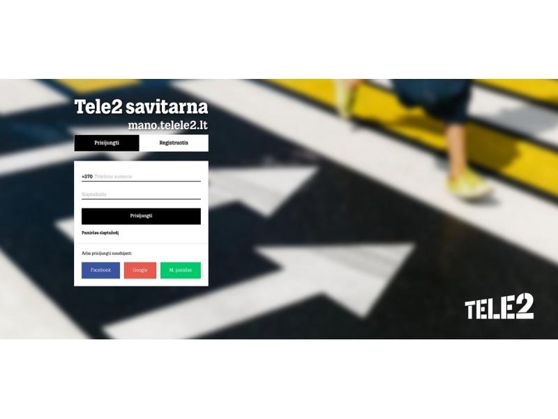 """""""Tele2"""" savitarna: nuo paslaugų valdymo ir sutarčių pratęsimo iki asmeninių pasiūlymų"""