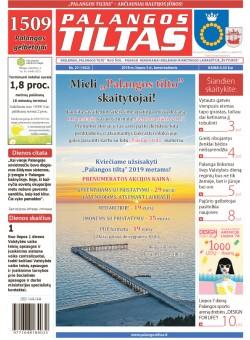 Palangos tilto laikraštis, Data: 2018-07-04, Numeris: 27(1652)